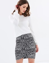 Miss Selfridge Monochrome Front Mini Skirt