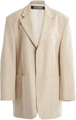 Jacquemus Oversized Linen-Blend Blazer
