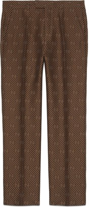 Gucci GG stripe wool silk tailored pant
