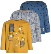 Mothercare BEAR GRAPHIC 3 PACK Long sleeved top darks multicolor