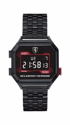 Ferrari Men's Digidrive Quartz Watch with Ionic Plated Black Steel Strap 18 (Model: 0830704)