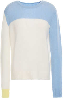 Chinti and Parker Color-block Open-knit Wool And Cashmere-blend Sweater