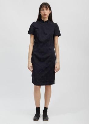 Comme des Garcons Dot Jacquard Mandarin Collar Dress