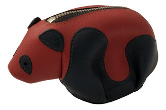 Loewe Animals Red Leather Purses, wallets & cases