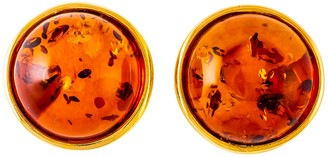 Be Jewelled Be-Jewelled Amber Round Stud Earrings