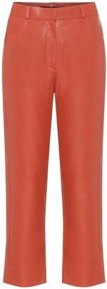 ZEYNEP ARCAY High-rise straight leather pants