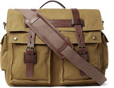 Belstaff Colonial Leather-Trimmed Cotton-Canvas Messenger Bag