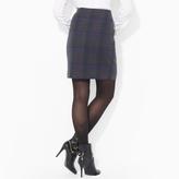 Ralph Lauren Plaid Wool Skirt