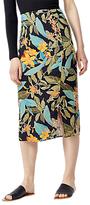 Warehouse Tropical Garden Skirt, Black Pattern