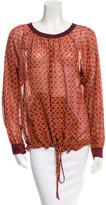 Marc Jacobs Silk Floral Printed Top