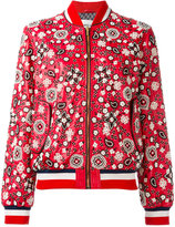 Michel Klein embellished bomber jacket - women - Lamb Skin - 38