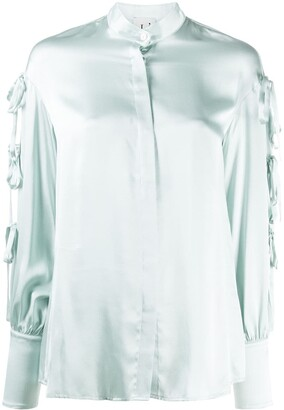 L'Autre Chose Bow-Detail Silk Shirt