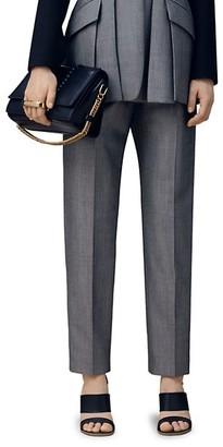 Alexander McQueen Jacquard Straight-Leg Trousers