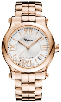 Chopard Rose Gold and Diamond Happy Sport Automatic Watch 36mm