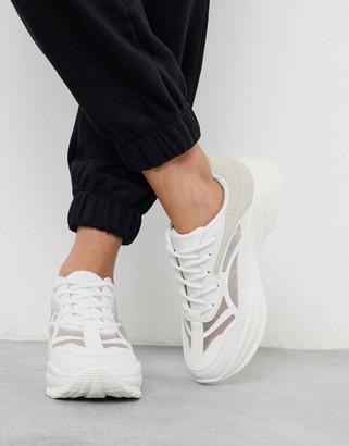ASOS DESIGN Daily chunky trainers in white