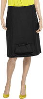 Marni Bow-embellished wool-twill skirt