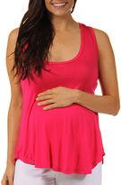24/7 Comfort Apparel Knit Blouse-Maternity