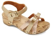 Cat & Jack Toddler Girls' Parisa Wooden Wedge Thong Sandals With Small Bow Cat & Jack - Gold