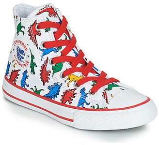 Converse CHUCK TAYLOR ALL STAR DINOVERSE PRINT CANVAS HI boys's Shoes (High-top Trainers) in White