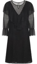 See by Chloe Ruffled Paneled Cotton-blend Lace Mini Dress