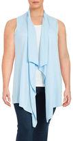 MICHAEL Michael Kors Plus Cotton-Blend Flyaway Vest