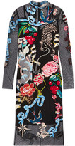 Temperley London Sail Embroidered Embellished Swiss-dot Tulle Dress - Black
