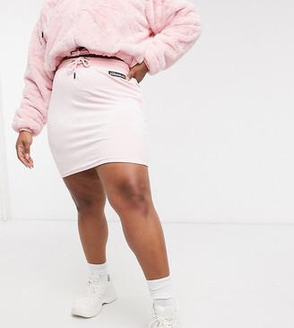 Ellesse Plus Faux Fur Mini Skirt In Pink Exclusive