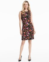White House Black Market Embroidered Floral Sheath Dress