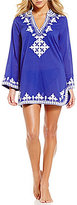 Antonio Melani Embroidered Tunic Cover-Up