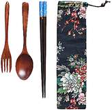 DRAGON SONIC Creative Japanese-style Wood Chopsticks Spoon Set Outdoor Adult Portable,A4