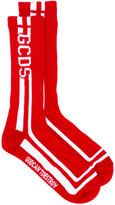 Gcds - intarsia-knit socks - men - Cotton/Polyamide/Spandex/Elastane - One Size