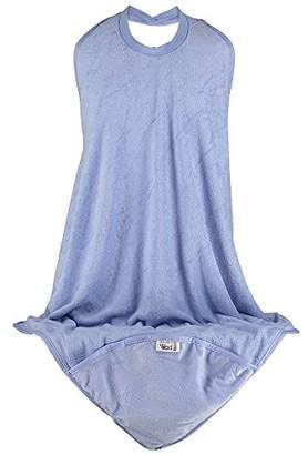 Close Pop-In 579235 Apron Bath Towel with Hood - Cornflower Blue