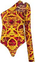 Versace baroque leopard-print bodysuit