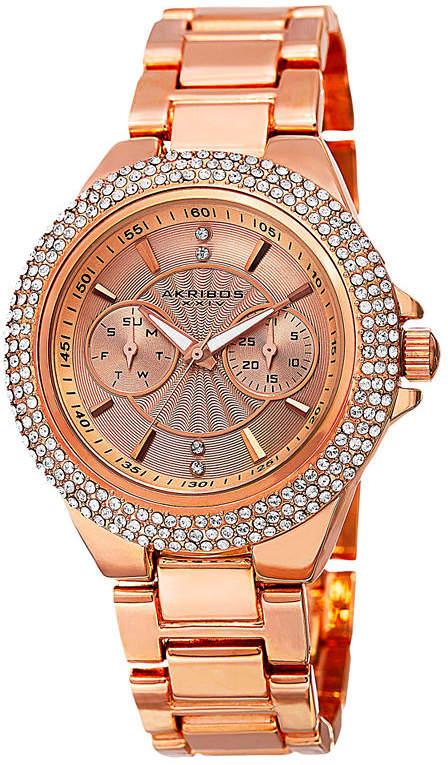 Akribos XXIV Womens Rose Goldtone Bracelet Watch-A-789rg