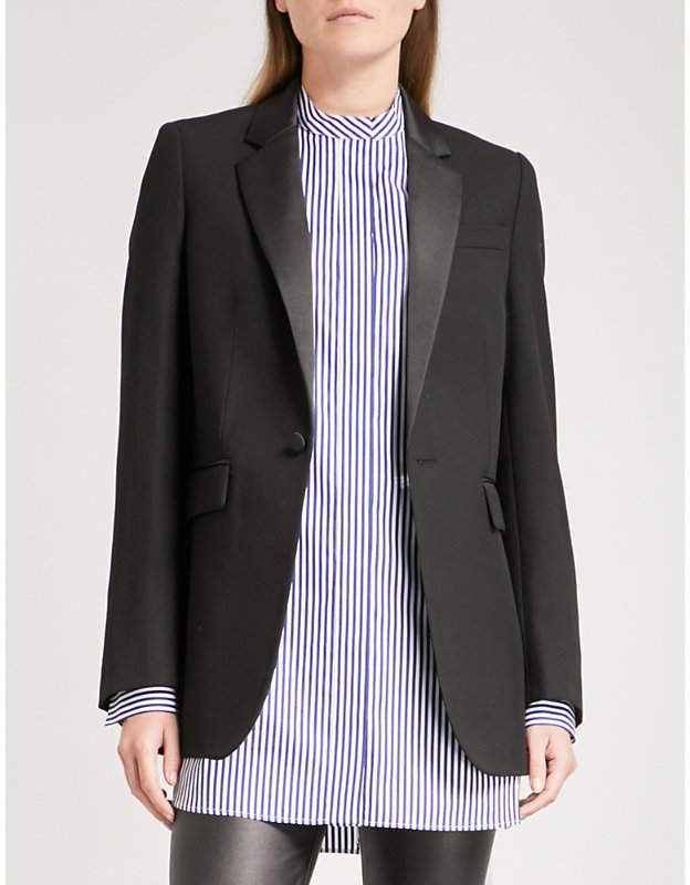 Joseph Jan satin-lapel woven jacket