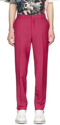 Alexander McQueen Pink Selvedge Wool and Mohair Trousers