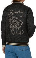 MinkPink Fair Fa%C3%83%E2%80%A1ade Embroidered Bomber