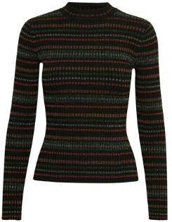 Gestuz Multicolor Long Sleeve Multa Pullover - Viscose and Nylon   M/L