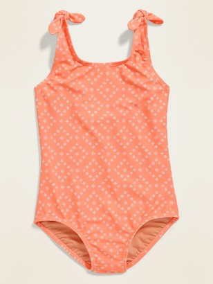 Old Navy Printed Tie-Shoulder Swimsuit for Girls