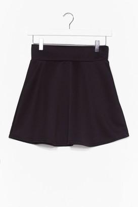 Nasty Gal Womens Dressed to Frill High-Waisted Mini Skirt - Black - 12