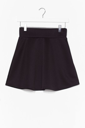 Nasty Gal Womens Dressed to Frill High-Waisted Mini Skirt - Black