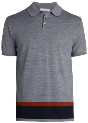 Nominee Contrast Stripe Wool Knit Polo Shirt