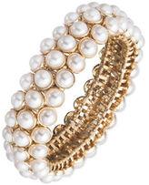 Anne Klein 3-Row Faux Pearl Stretch Bracelet
