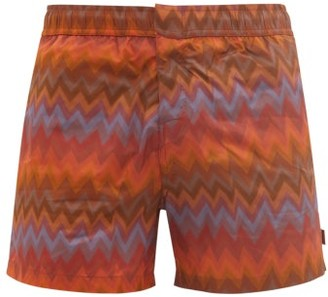 Missoni Mare - Zigzag-print Swim Shorts - Orange Multi
