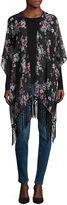 MIXIT Mixit Dark Romance Floral Kimono Wrap