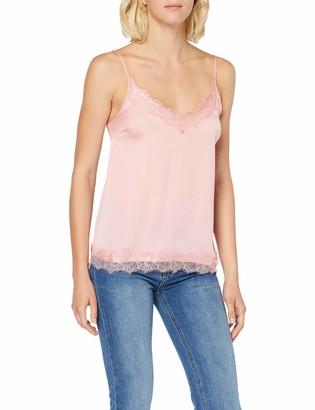 Saint Tropez Women's Singlet Top W. Lace Vest