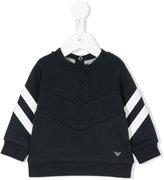Armani Junior stripe detail sweatshirt
