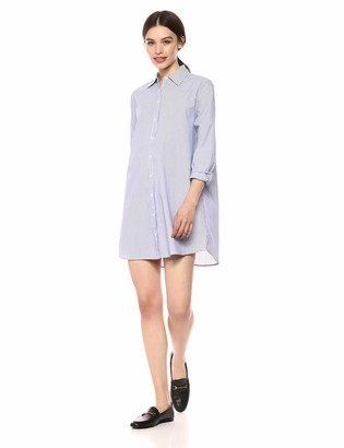 BB Dakota Junior's one line Day Cotton Striped Shirt Dress