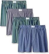 Tommy Hilfiger Men's Underwear 4 Pack Cotton Classics Woven Boxers
