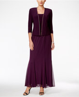 Alex Evenings Rhinestone-Trim Gown and Jacket